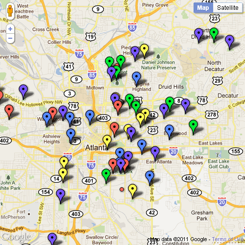 Play Atlanta Playground Map. Enable javascript to use interactive map.